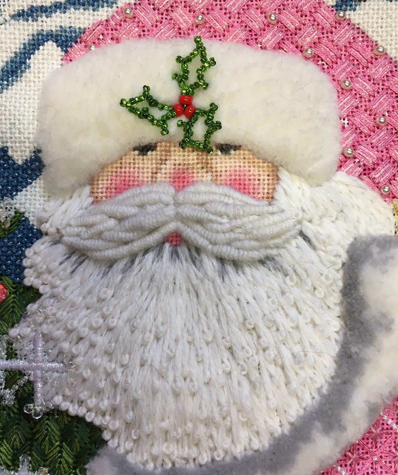 Santa Face The Wellesley Needlepoint Collection Inc
